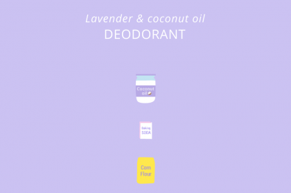 Coconut oil deodorant illustration