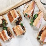 Sandwiches on a tray